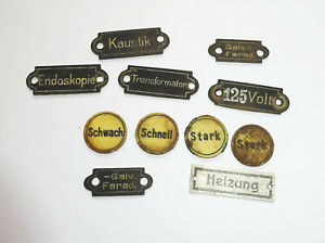 Konvolut alte Radio Schilder Schildchen Beschriftung Ersatzteile Vintage !