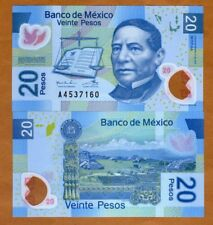 Mexico, 20 Pesos, 12-7-2016, Polymer, P-122-New, AA-Serie, A-Prefix, New Sig UNC