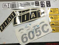 Serie Decalcomania-Adesivi Per trattore Fiat 605C....