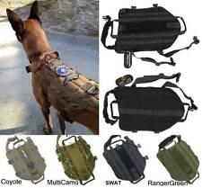 TACTICAL POLICE K9 DOG VEST HARNESS MOLLE USA MILSPEC CANINE US MILITARY