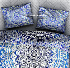 6 PCs Set Ombre Mandala Printed Cotton Pillow Cover Indian Bedding Pillow Sham
