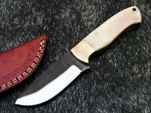 Stunning Handmade HIGH Carbon Real File Steel Fixed Blade Hunting Knife PS-896