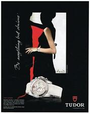 PUBLICITE  ADVERTISING   2008   TUDOR  collection LADY CHRONO  montres