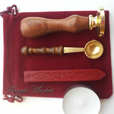 Hogwarts Wax Seal bag set.Hogwarts stamp logo Dumbledor/Hermione Harry