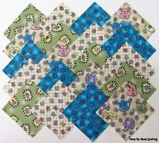 """40 4"""" FRIENDSHIP Fabric Quilt Squares Quilting Novelty Country Print Floral Kit"""