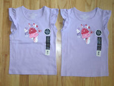 Twin girls SPRINKLE ICE CREAM CONE lavender tops shirts NWT 5