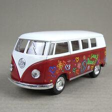 1962 Volkswagen 1:32 Scale Die-Cast Kombi Combi Microbus Hippy Van Peace Red