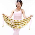 New Belly Dance Hip Scarf Belt 5 layers Sequins&288Pcs Golden Coins 9 colors