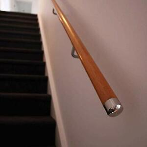 45mm Chrome End Caps Handrail, Mopstick Stair Hand Rail stainles steel One Pair