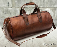 Large Rugged Handmade Leather Holdall Duffle Gym Travel Weekend Bag RRP £102.99
