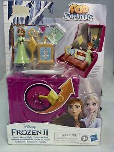 "New Disney Frozen 2 Pop Up Adventures Family Game Night Anna 2.2"" Playset 3+"
