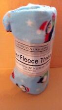 "Light Blue w/ Penguins Holiday theme Polar Blanket 50""x 60"" by Manhattan Heights"