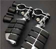 "High Quality Highway Footrest Clamps 1"" ~ 1 1/4"" Foot Pegs Chopper Motorcycle"