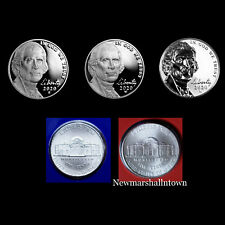 2020 P+D+S+W+W Jefferson Nickel Mint Proof Set ~ (3) Proofs and PD from Mint Set