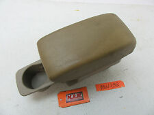1999 99 GALANT CENTER CONSOLE LID ARM REST CUP HOLDER TAN ARMREST FRONT SEAT CAR