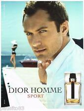 PUBLICITE ADVERTISING 105 2012  DIOR HOMME SPORT parfum JUDE LAW