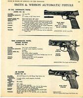 1969 Print Ad of Smith & Wesson S&W Model 46 .22, 39 9mm & 52 .38 Master Pistol