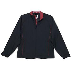 Footjoy Dry Joys Zip Front Jacket Womens Size M Medium Black Red Long Sleeve