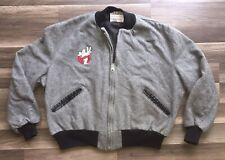 Ghostbusters Delong Varsity Gray Jacket Size 48 (see measurements) Made In USA