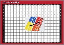 2018 A2 Size Year Wall Planner Calendar SET Home Office Work JAN-DEC