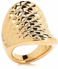 """Bellezza """"Spedito"""" High Polished North South GoldTone Bronze Ring Size 6"""