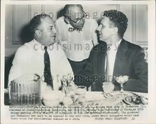 1952 New Jersey Governor Alfred Driscoll w J J Dickerson L B Marsh Press Photo