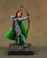 Painted female Alistrilee, Elf Archer Miniatures D&D character ranger runescape