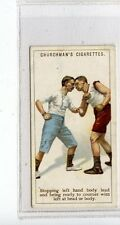 (Jc7089-100)  CHURCHMANS,BOXING,STOPPING LEFT HAND BODY,1922,#25