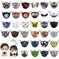 Childrens Breathable Face Mask Unisex Reusable Washable Protection kids ANIMALS