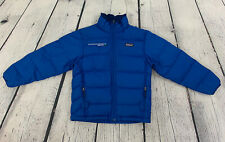 Patagonia Boys Blue Insulated Goose Down Sweater Quilted Puffer Jacket Size 10