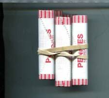 2009 D LINCOLN HEAD LOG CABIN  #1 PENNY  PAPER BANK ROLL LOT OF 5 2617L