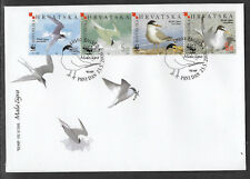WWF WORLD WILDLIFE FUND CROATIA 2006 BIRDS STRIP 4v FDC