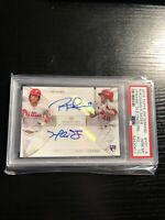2018 Topps On Demand Rhys Hoskins/ Harrison Bader Rookie Auto PSA 10 RARE