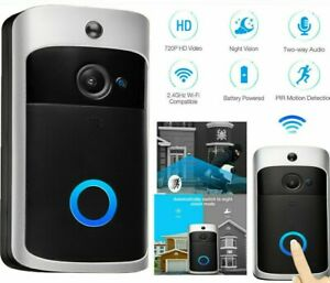 2 Way Wireless home Doorbell WiFi Video Door bell Talk Smart Security HD Camera