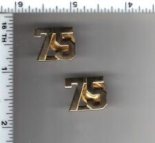 75th Precinct Police Collar Brass Set - from the New York City/New Jersey Area