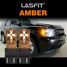 Fit for Ram 1500 2000-2012 LED Front Side Marker Light Bulbs 3157 4157 Amber 2x