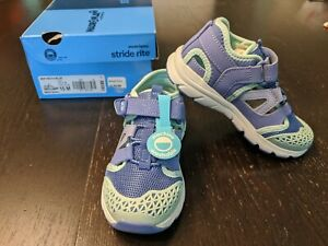 NIB Stride Rite Made 2 Play Nesta Blue And Purple Shoes 10 Toddler Girls