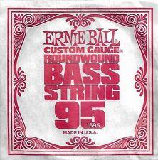 Corde basse 1 corde ERNIE BALL 95 custom gauge ROUND WOUND - à l'Unité