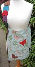 Handmade Upcycled Tote/Shopper Bag Extra Large With Suede Belt Shoulder Strap