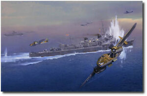 PACIFIC POWERHOUSE - Battle of the Bismarck Sea by Jack Fellows-B-25 Mitchell