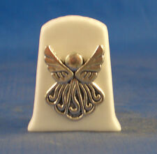 Birchcroft China Thimble  -- Cameo Antique Silver Angel with Free Gift Box