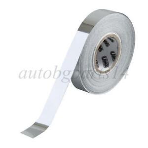 10mm x 10m Car Self-Adhesive Chrome Grille Strip Film Thin Trim Tunning Flexible