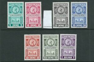 VENEZUELA 1952 BARQUISIMENTO (Scott C557-C664 short C559) VF MLH