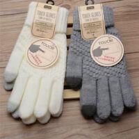 gants d'hiver de laine chaude d'hiver de tricot de gant d'homme de femme I
