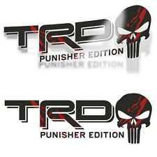 Trd Punisher Edition Decals Stickers Set Of 2