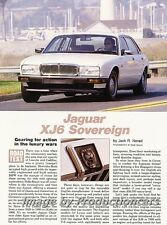 1990 Jaguar XJ6 Sovereign Original Car Review Report Print Article J783
