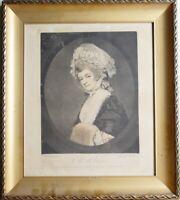 MRS. ROBINSON gemalt von G. Romney und gestochen von I. R. Smith 25. August 1781