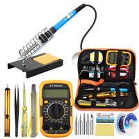 60W Adjustable Temperature Welding Solder Soldering Iron Multimeter Tool Kits