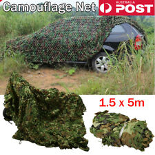 5m Large Hunting Camping Woodlands Blind Military Camouflage Camo Net Mesh Hunt