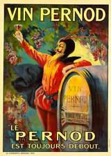 French Wine Pernod 1899 Vintage Advertising Poster Giclee Canvas Print 20X28